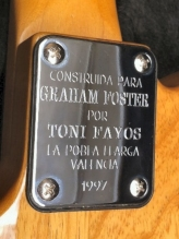 Graham's Telecaster, custom-built by Toni Fayos in 1997
